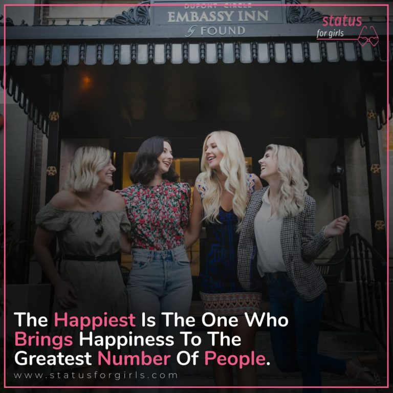 The happiest is the one who brings happiness to the greatest number of people.