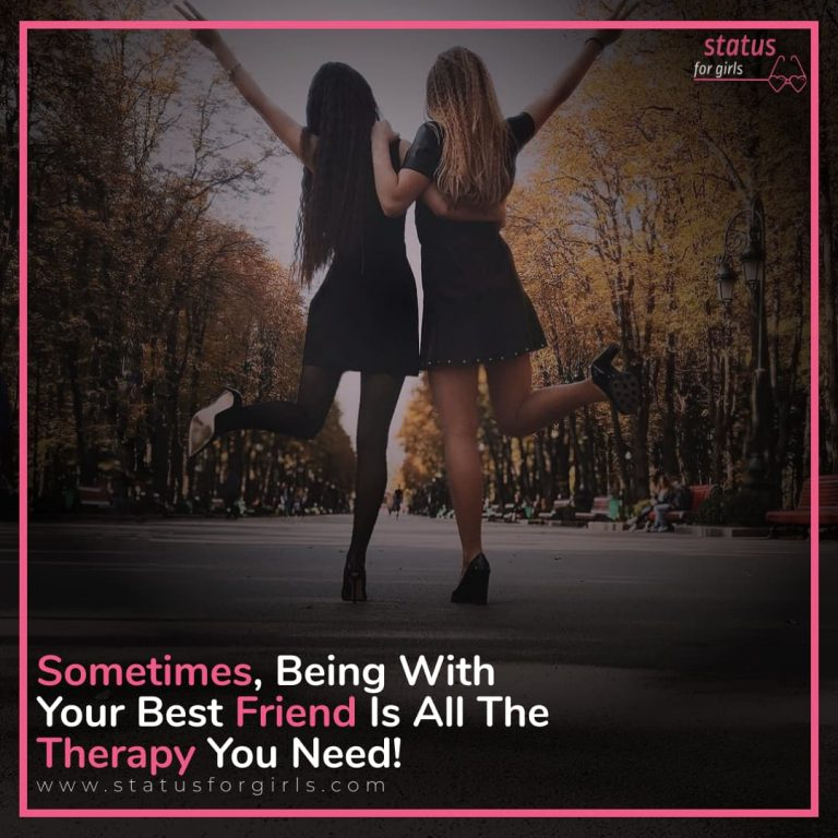 Sometimes, being with your best friend is all the therapy you need!