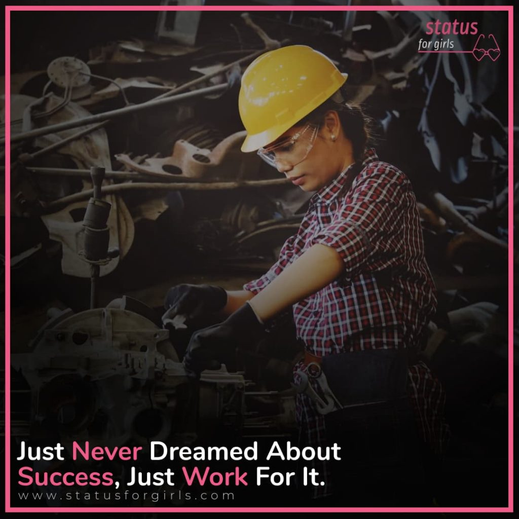 Just Never Dreamed About Success, Just Work For It.