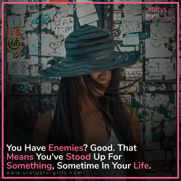 Do you have enemies? Good. That means you've stood up for something, sometime in your life.