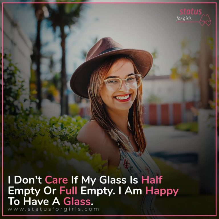 I don't care if my glass is half empty or full empty. I am happy to have a glass.