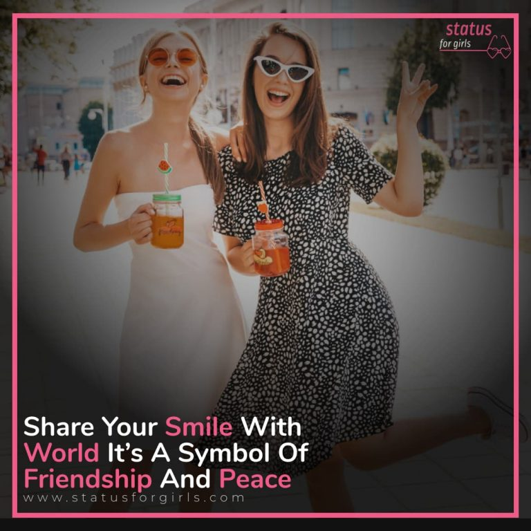 Share Your Smile With World it's a symbol of Friendship and Peace.
